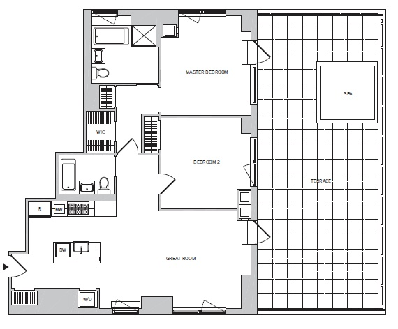 UPPER WEST SIDE; SPRAWLING 2 BEDROOM / 2 BATHROOM + PRIVATE TERRACE; CONDO RENTAL W/ PRIVATE TERRACE; NO BOARD APPROVAL REQUIRED